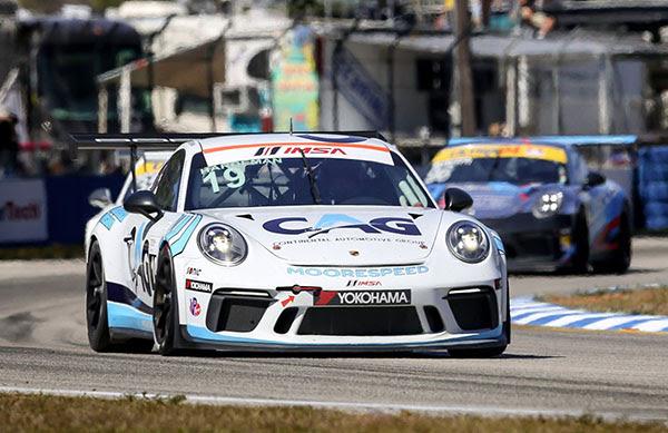 No. 19 CAG/Moorespeed Porsche GT3 Cup
